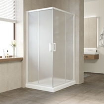 Душевой уголок Vegas Glass ZA 0110*100 01 10 профиль белый, стекло сатин