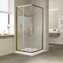 Душевой уголок Vegas Glass ZA 0100 05 01 профиль бронза, стекло прозрачное