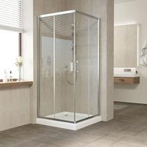Душевой уголок Vegas Glass ZA 0100 08 01 профиль глянцевый хром, стекло прозрачное