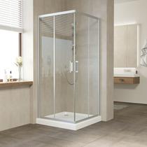 Душевой уголок Vegas Glass ZA 0100 07 01 профиль матовый хром, стекло прозрачное