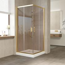 Душевой уголок Vegas Glass ZA 0100 09 05 профиль золото, стекло бронза
