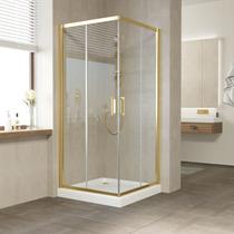 Душевой уголок Vegas Glass ZA 0100 09 01 профиль золото, стекло прозрачное