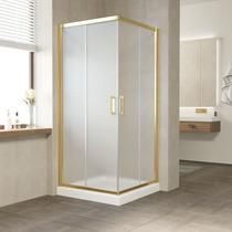 Душевой уголок Vegas Glass ZA 0100 09 10 профиль золото, стекло сатин
