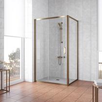 Душевой уголок Vegas Glass ZP+ZPV 100*100 05 01 профиль бронза, стекло прозрачное