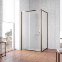 Душевой уголок Vegas Glass ZP+ZPV 100*100 05 10 профиль бронза, стекло сатин