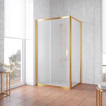 Душевой уголок Vegas Glass ZP+ZPV 130*90 09 10 профиль золото, стекло сатин
