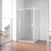 Душевой уголок Vegas Glass ZP+ZPV 130*90 01 01 профиль белый, стекло прозрачное