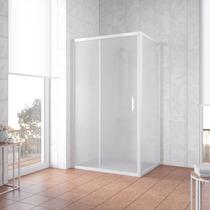 Душевой уголок Vegas Glass ZP+ZPV 100*100 01 10 профиль белый, стекло сатин