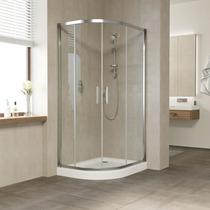 Душевой уголок Vegas Glass ZS-F 100*80 08 01 профиль глянцевый хром, стекло прозрачное