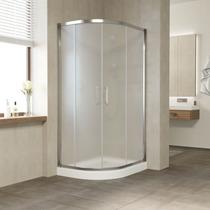 Душевой уголок Vegas Glass ZS-F 100*80 08 10 профиль глянцевый хром, стекло сатин