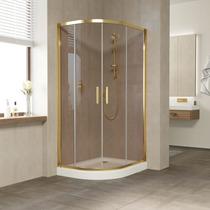 Душевой уголок Vegas Glass ZS-F 100*80 09 05 профиль золото, стекло бронза