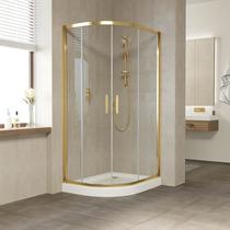 Душевой уголок Vegas Glass ZS-F 100*80 09 01 профиль золото, стекло прозрачное