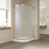 Душевой уголок Vegas Glass ZS-F 100*80 09 10 профиль золото, стекло сатин