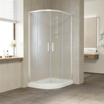 Душевой уголок Vegas Glass ZS-F 100*80 01 10 профиль белый, стекло сатин