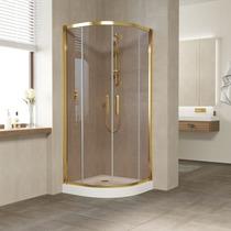 Душевой уголок Vegas Glass ZS 0080 09 05 профиль золото, стекло бронза