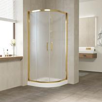 Душевой уголок Vegas Glass ZS 0080 09 10 профиль золото, стекло сатин