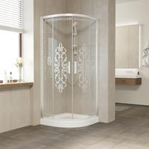 Душевой уголок Vegas Glass ZS 0090 01 01 профиль белый, стекло Felicita1