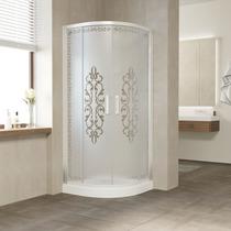 Душевой уголок Vegas Glass ZS 0090 01 01 профиль белый, стекло Felicita2