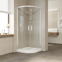 Душевой уголок Vegas Glass ZS 0080 01 01 профиль белый, стекло прозрачное