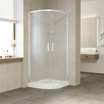 Душевой уголок Vegas Glass ZS 0080 01 10 профиль белый, стекло сатин