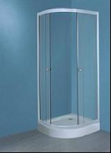 Душевой уголок Aquamarine A-01 80x80x195 профиль белый стекло матовое