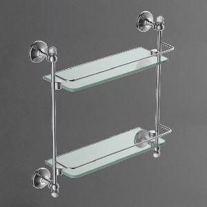 Двойная стеклянная полка ART&MAX Antic Crystal AM-2682BGJr
