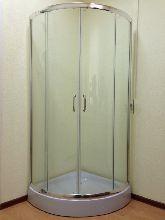 Душевой уголок Ammari AM-A-025-80 80x80x200 профиль хром стекло прозрачное