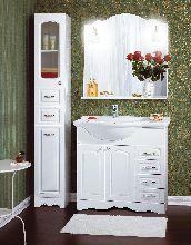 Комплект мебели Бриклаер Анна 90 Белый раковина Дрея