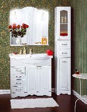 Комплект мебели Бриклаер Анна 90 Белый раковина Эльбрус
