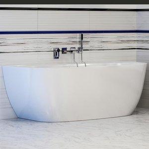 Мраморная ванна Астра-Форм Атрия пристеночная 170х85