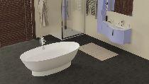 Мраморная ванна Esse Barbados 180х87
