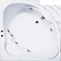 Гидромассажная ванна BAS Хатива 143 x 143 x 50