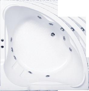 Гидромассажная ванна BAS Ирис 150 x 150 x 50