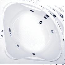 Гидромассажная ванна BAS Риола 135 x 135 x 50