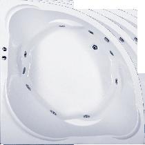 Гидромассажная ванна BAS Ривьера 160 x 160 x 50