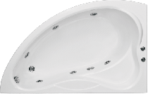 Гидромассажная ванна BAS Вектра 150 х 90 x 49