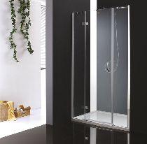 Душевая дверь Cezares BERGAMO-B-13-80+60/30-C-Cr-L стекло прозрачное, профиль хром