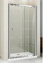 Душевая дверь Cezares PRATICO-BF-1-155-C-Cr стекло прозрачное, профиль хром