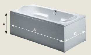 Панель для прямоугольных ванн Riho 180, 190