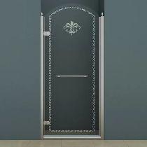 Душевая дверь Cezares RETRO-B-1-90-CP-Cr-L стекло прозрачное с узором, профиль хром