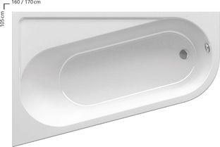 Акриловая ванна Chrome 170х105