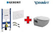 Duravit Duraplus комплект унитаза с сиденьем 2547090000 + 0064190096 и монтажной рамы с клавишей 458.115.11.1