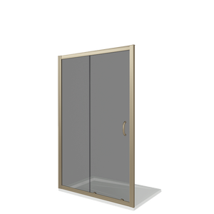 Душевая дверь Good Door Jazze WTW-120-C-G, цвет профиля золото, цвет стекла прозрачное, 120x185
