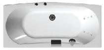 Акриловая ванна Aquanet Izabella 160x70