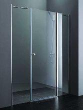 Душевая дверь Cezares ELENA-B-13-80+60/30-C-Cr стекло прозрачное, профиль хром