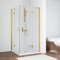 Душевой уголок Vegas Glass AFA 0120 09 01 профиль золото, стекло прозрачное