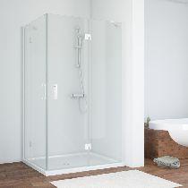 Душевой уголок Vegas Glass AFA-F 110*100 01 01 L профиль белый, стекло прозрачное