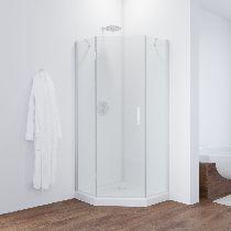 Душевой уголок Vegas Glass AFA-Pen 0100 01 01 L профиль белый, стекло прозрачное