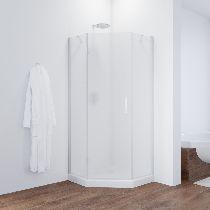 Душевой уголок Vegas Glass AFA-Pen 0100 01 10 L профиль белый, стекло сатин