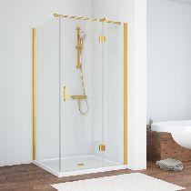 Душевой уголок Vegas Glass AFP-Fis 110*70 09 01 L профиль золото, стекло прозрачное